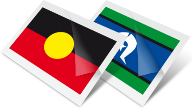 Torres Strait Islander Flag Temporary Tattoos