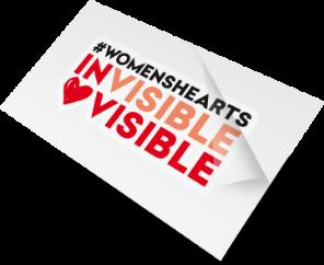 Heart Foundation Invisible Visible Custom Temporary Tattoo