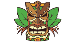 Tiki Custom Temporary Tattoo