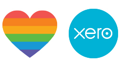 Xero NZ Pride Custom Temporary Tattoo
