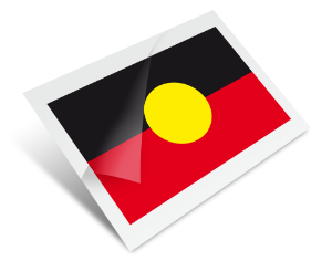 Aboriginal Flag Temporary Tattoo