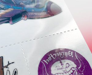 Perforation Packaging for Custom Temporary Tattoos